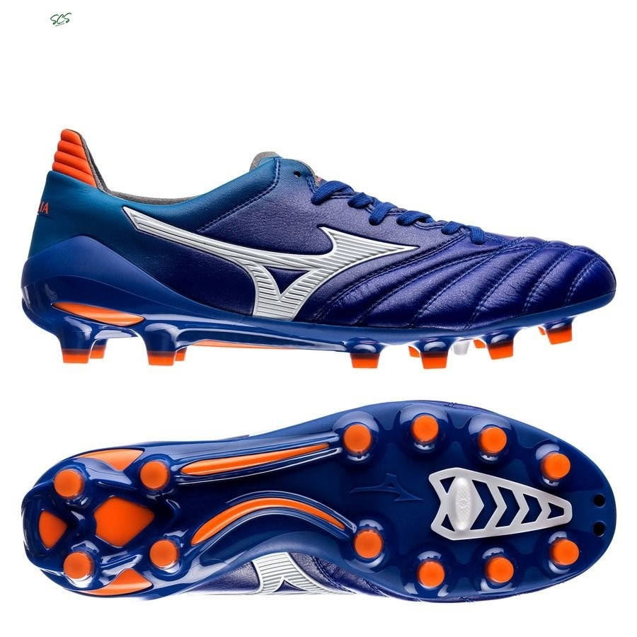 Acquisto Mizuno Morelia Neo II Made in Japan FG Blu Arancia