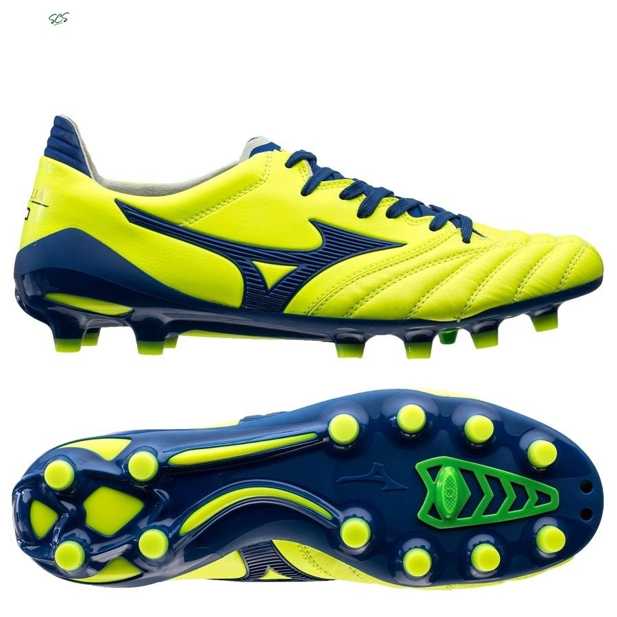 Acquisto Mizuno Morelia Neo II Made in Japan FG Brazilian Spirit Giallo Blu